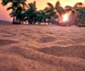 beach, summer, and sand image