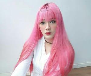cabelo, hair, and pink hair image
