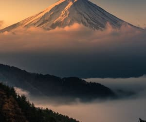 mountains, nature, and japan image