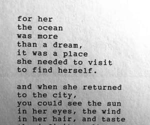 quotes, ocean, and words image