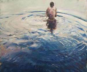 artist, ocean, and oil image