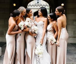 beauty, wedding, and friends image