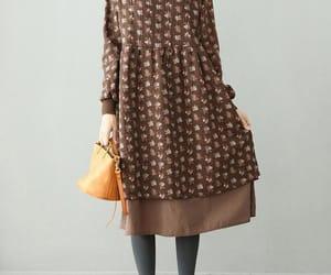 etsy, long sleeve, and casual long dress image