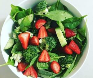 broccoli, food, and salad image