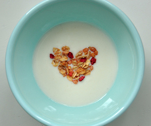 heart, cereal, and milk image