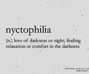 definition, word, and nyctophilia image