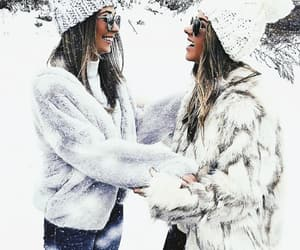 friendship, winter, and friends image