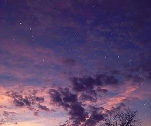sky, stars, and purple image