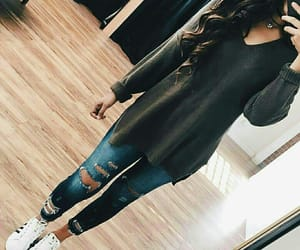 fashion, jeans, and selfie image