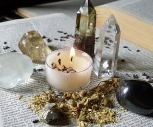 candle, witch, and crystal image
