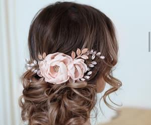 bride, hair, and hairdo image