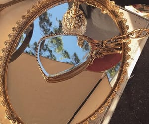 mirror, aesthetic, and gold image