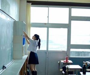 girl, japan, and school image