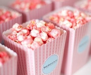 pink, popcorn, and blue&white image