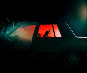 car, red room, and red aesthetic image