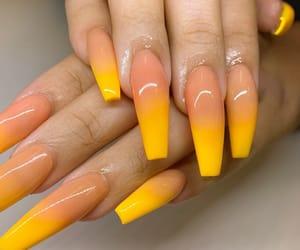 nails, acrylics, and fake nails image