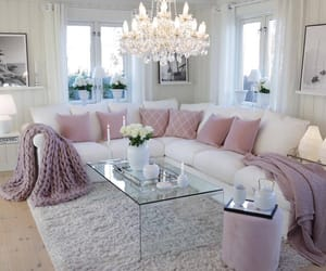 decor, home, and pink image
