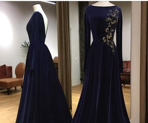 blue, velvet, and dress image