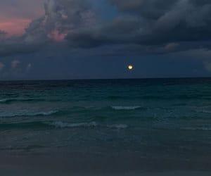 sky, moon, and ocean image