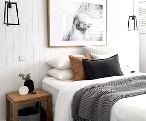 bedroom, decor, and cousy image