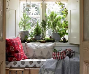 decor, home, and reading nook image