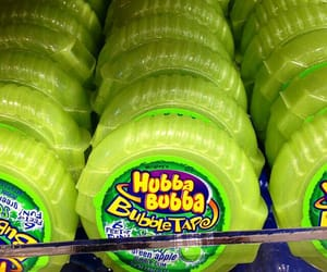 green, candy, and hubba bubba image