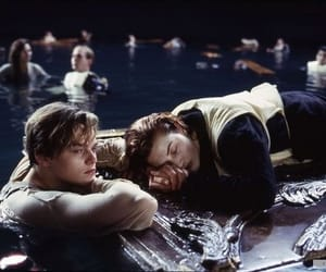 couple, leonardo dicaprio, and titanic image
