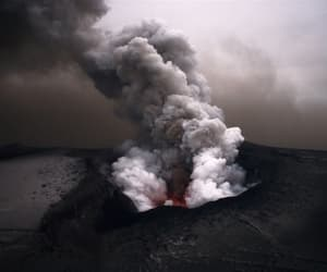 nature, volcano, and smoke image