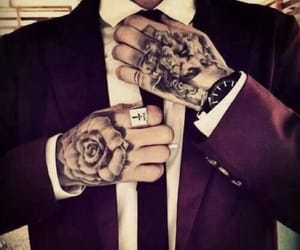 Hot, suit, and tattoo image