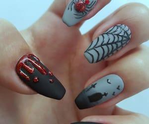 girl, Halloween, and nail art image