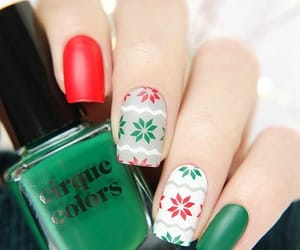 beuty, christmas, and manicure image
