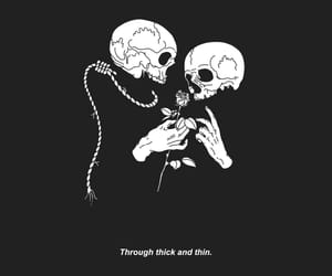 grunge, skull, and art image