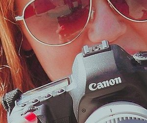 camera, canon, and miley cyrus image