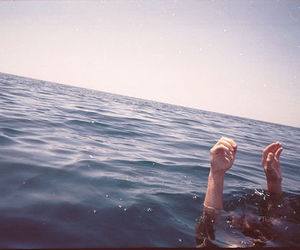 water, sea, and hands image