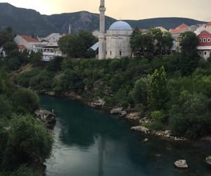 blue, Bosnia, and mostar image