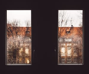 window, rain, and winter image