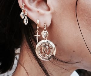 earrings, girl, and accessories image