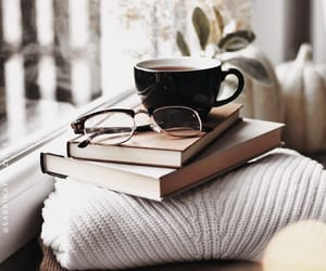 book, cozy, and sweater image