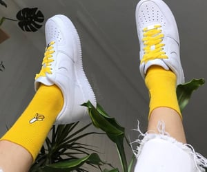 yellow, shoes, and banana image