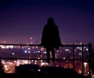 city, light, and girl image