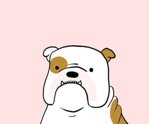 bulldog, cute, and cartoon image
