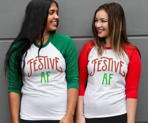 christmas, holidays, and baseball shirt image
