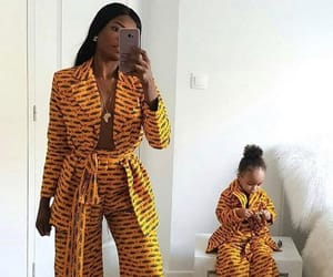 African, black and yellow, and fashion image