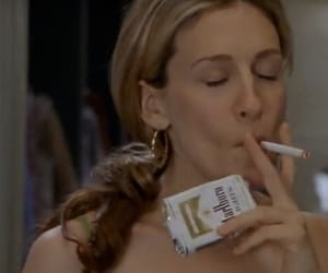90s, cig, and Carrie Bradshaw image