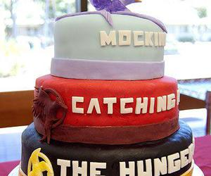 cake, catching fire, and the hunger games image