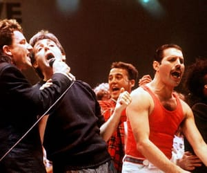 Freddie Mercury, Paul McCartney, and Queen image