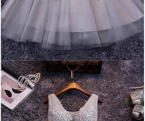 grey prom dresses, v-neck homecoming dress, and prom dresses short image