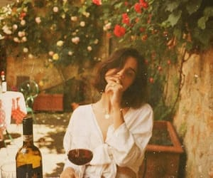 wine and flowers image