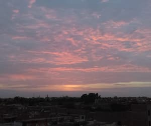 atardecer, nubes, and red light image