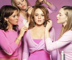 mean girls, pink, and lindsay lohan image